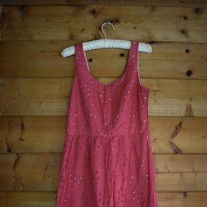 Vintage Pink Eyelet Dress